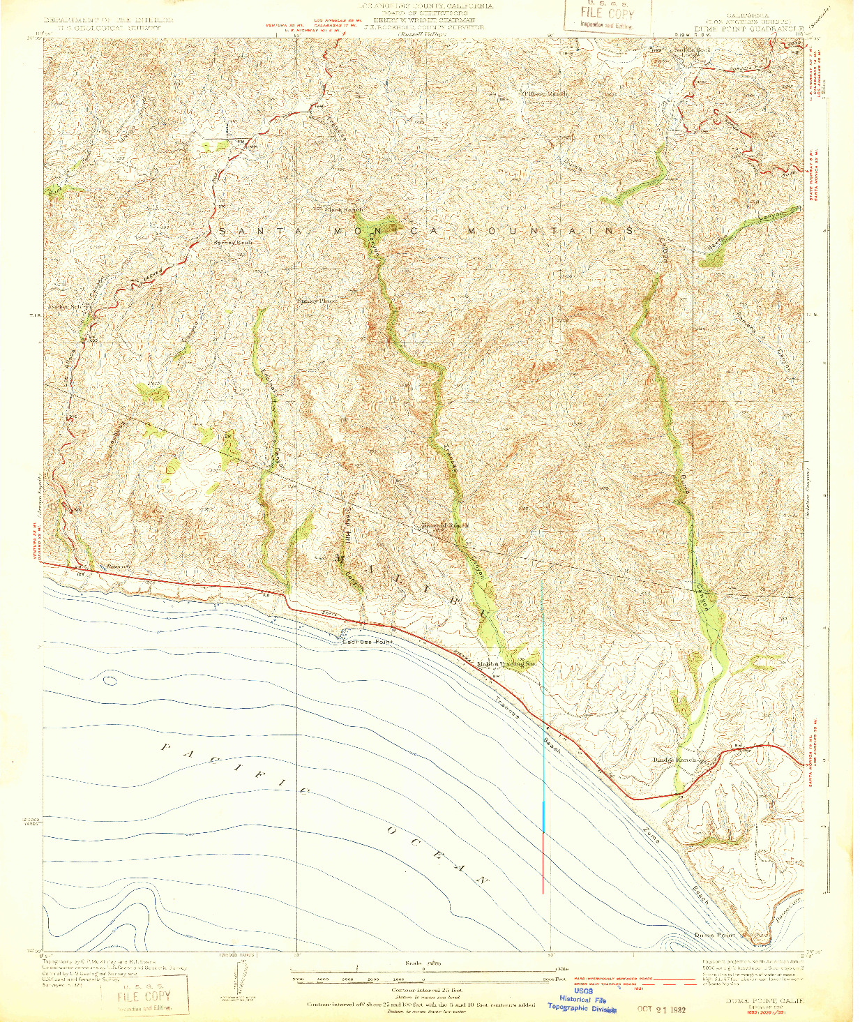 USGS 1:24000-SCALE QUADRANGLE FOR DUME POINT, CA 1932