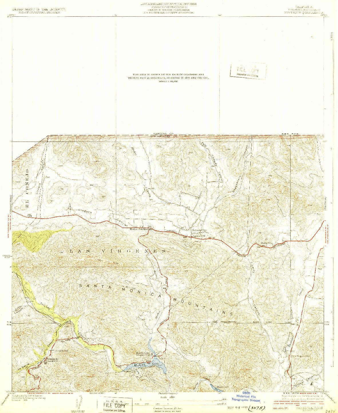 USGS 1:24000-SCALE QUADRANGLE FOR SEMINOLE, CA 1932