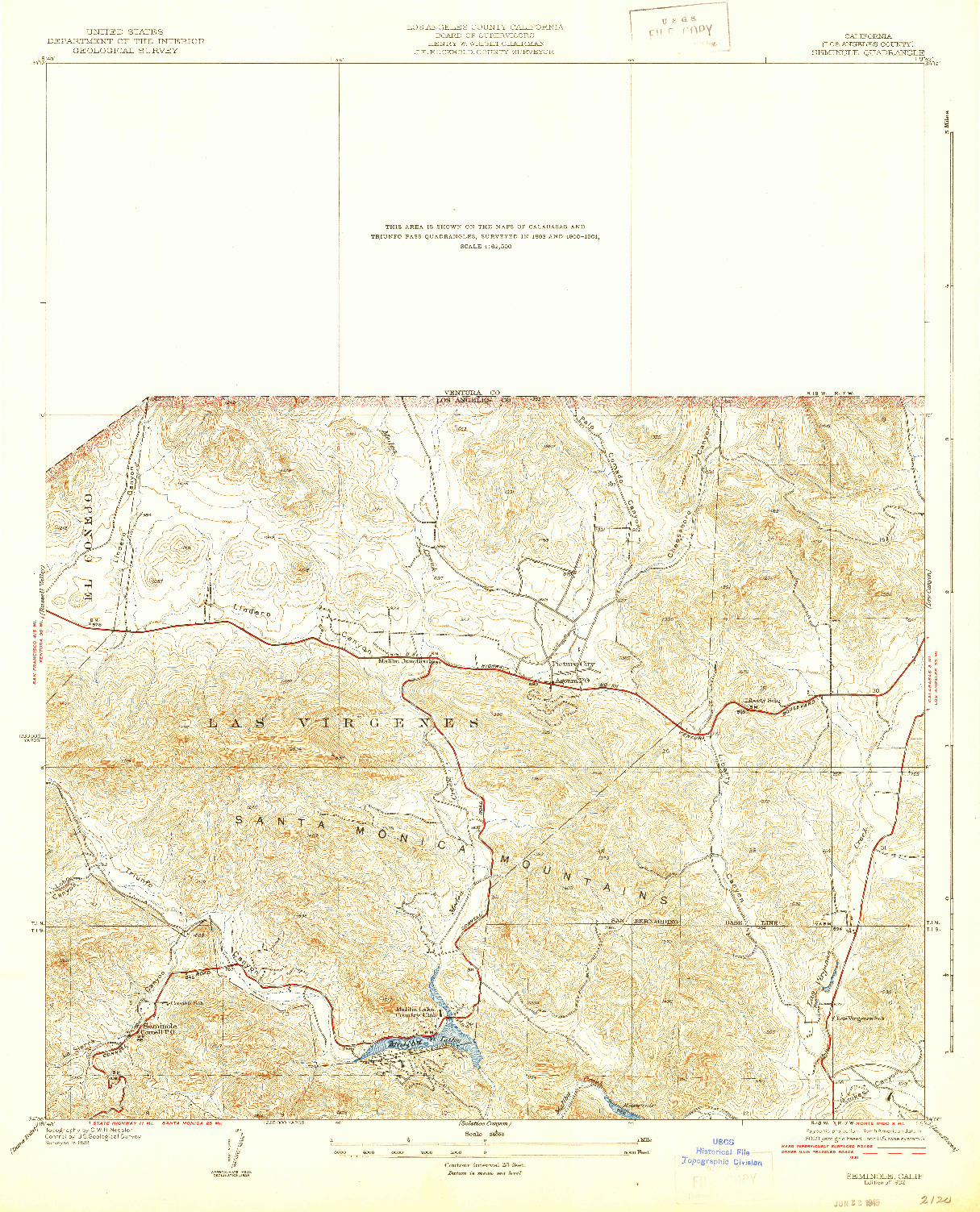 USGS 1:24000-SCALE QUADRANGLE FOR SEMINOLE, CA 1932