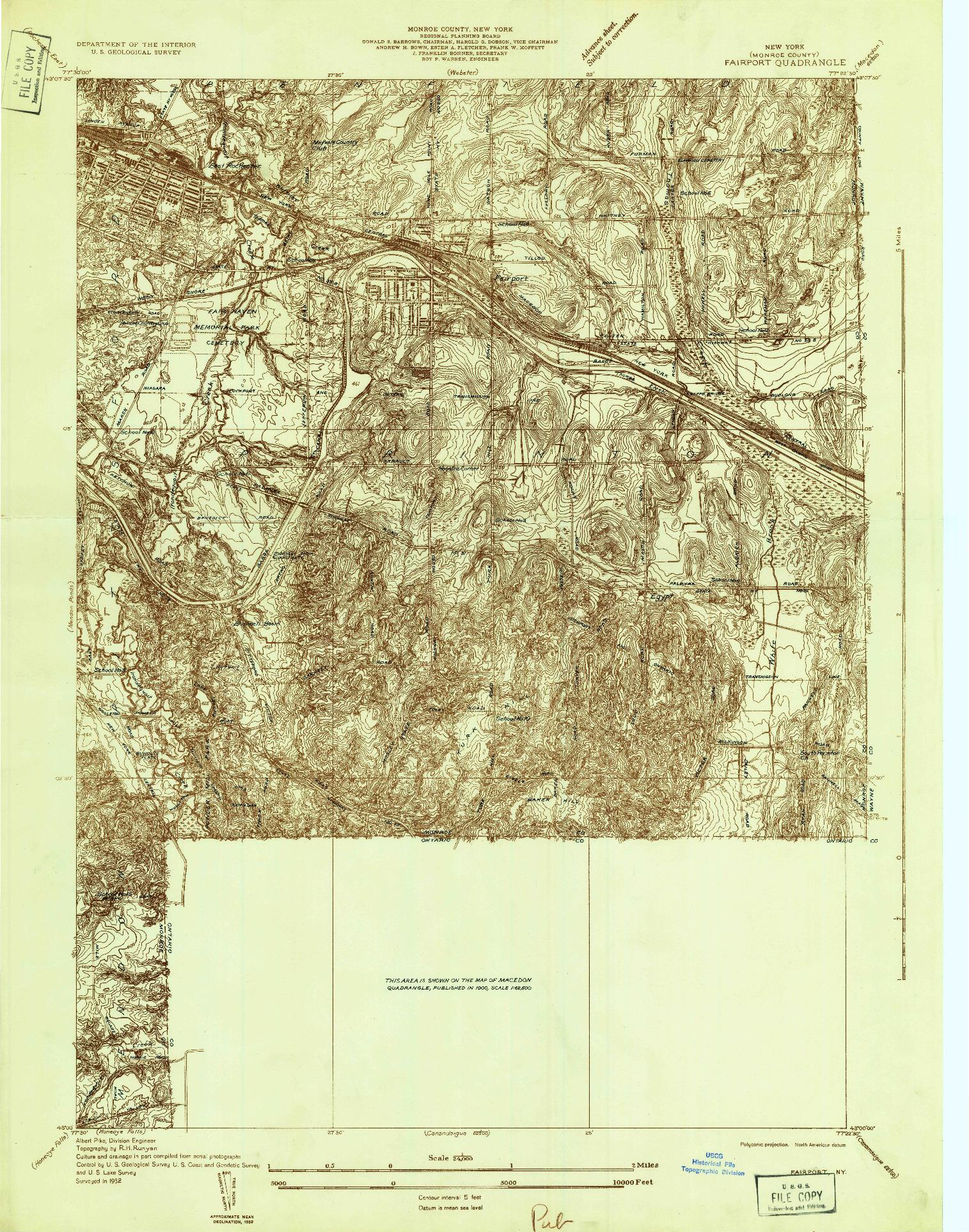 USGS 1:24000-SCALE QUADRANGLE FOR FAIRPORT, NY 1932