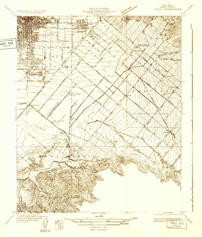 USGS 1:31680-SCALE QUADRANGLE FOR TUSTIN, CA 1932