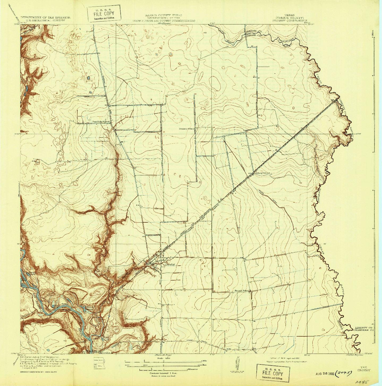 USGS 1:31680-SCALE QUADRANGLE FOR CROSBY, TX 1919