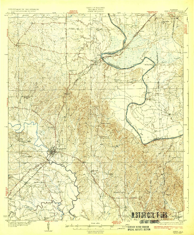 USGS 1:62500-SCALE QUADRANGLE FOR EPES, AL 1932
