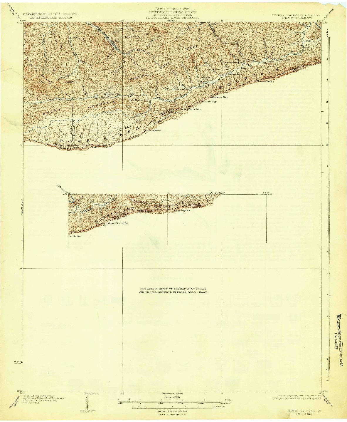 USGS 1:62500-SCALE QUADRANGLE FOR HAGAN, VA 1932