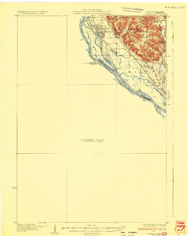 USGS 1:62500-SCALE QUADRANGLE FOR COCHRANE, MN 1932