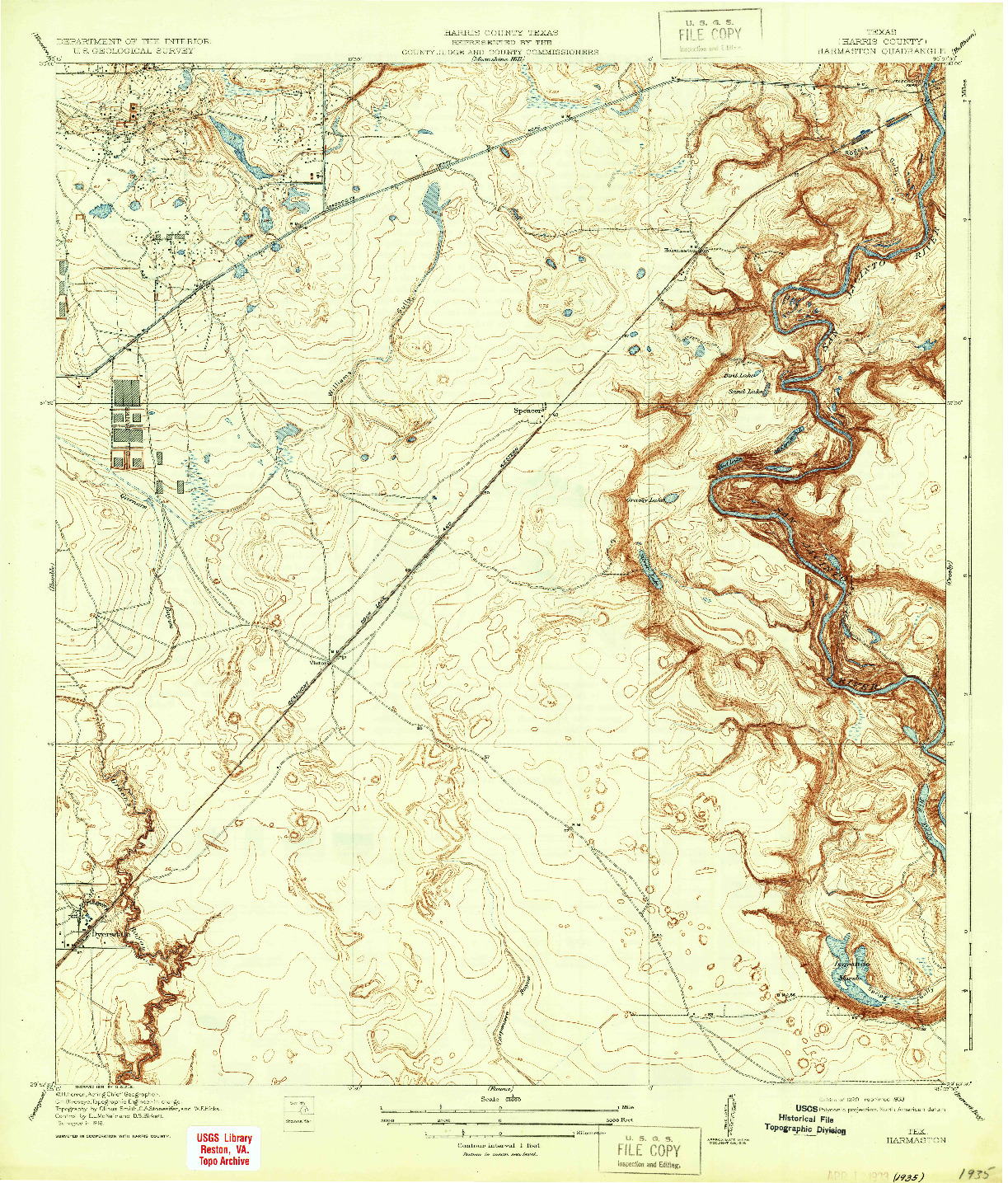 USGS 1:31680-SCALE QUADRANGLE FOR HARMASTON, TX 1920