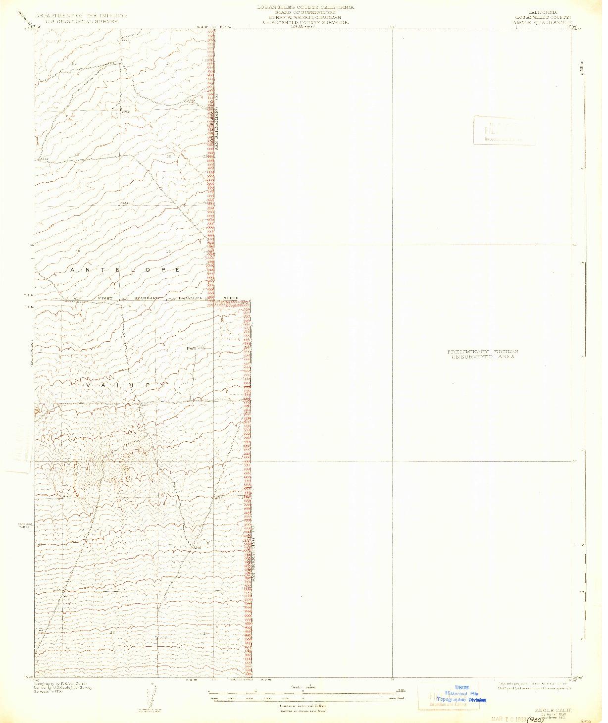 USGS 1:24000-SCALE QUADRANGLE FOR ANGLE, CA 1932