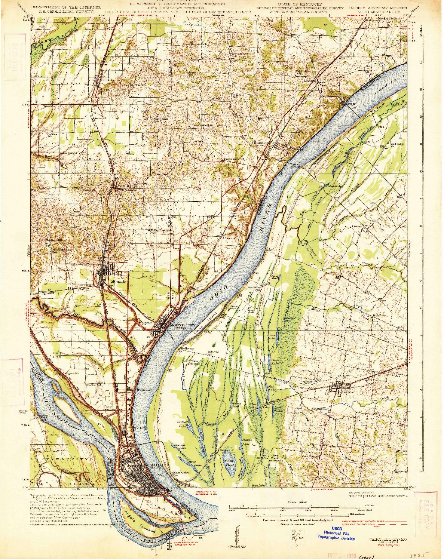 USGS 1:62500-SCALE QUADRANGLE FOR CAIRO, IL 1933
