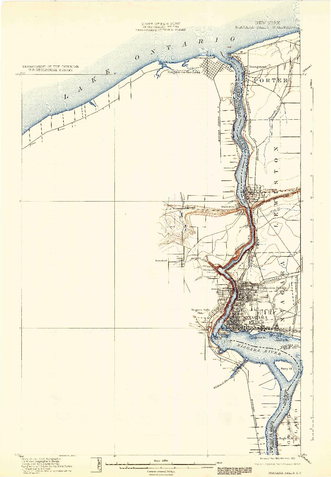 USGS 1:62500-SCALE QUADRANGLE FOR NIAGARA FALLS, NY 1901