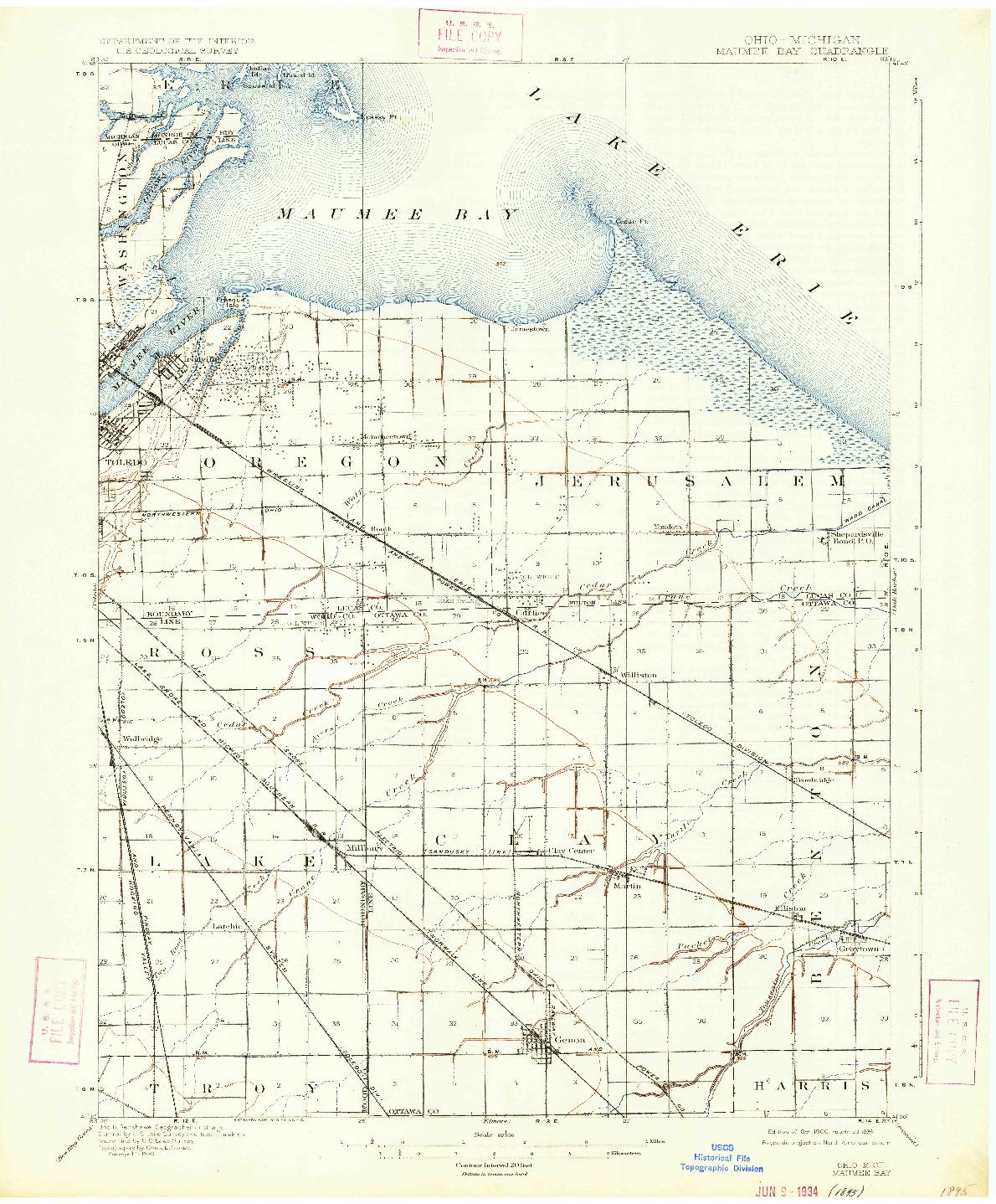 USGS 1:62500-SCALE QUADRANGLE FOR MAUMEE BAY, OH 1900