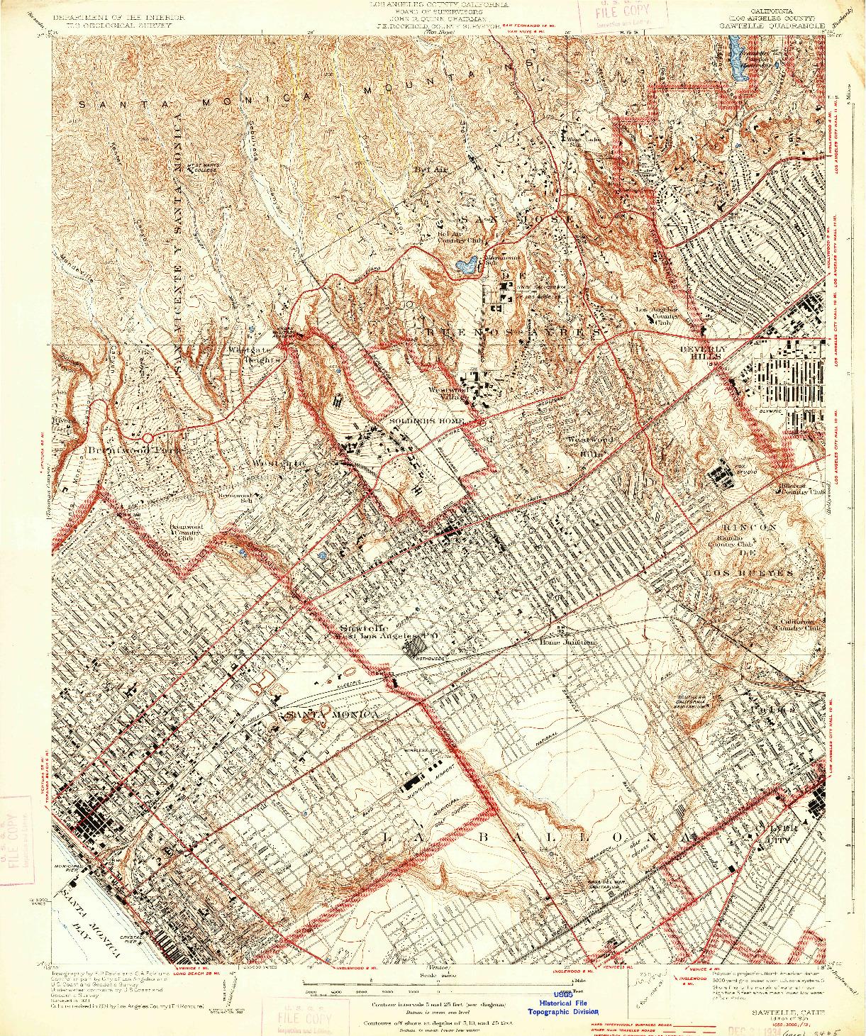 USGS 1:24000-SCALE QUADRANGLE FOR SAWTELLE, CA 1934