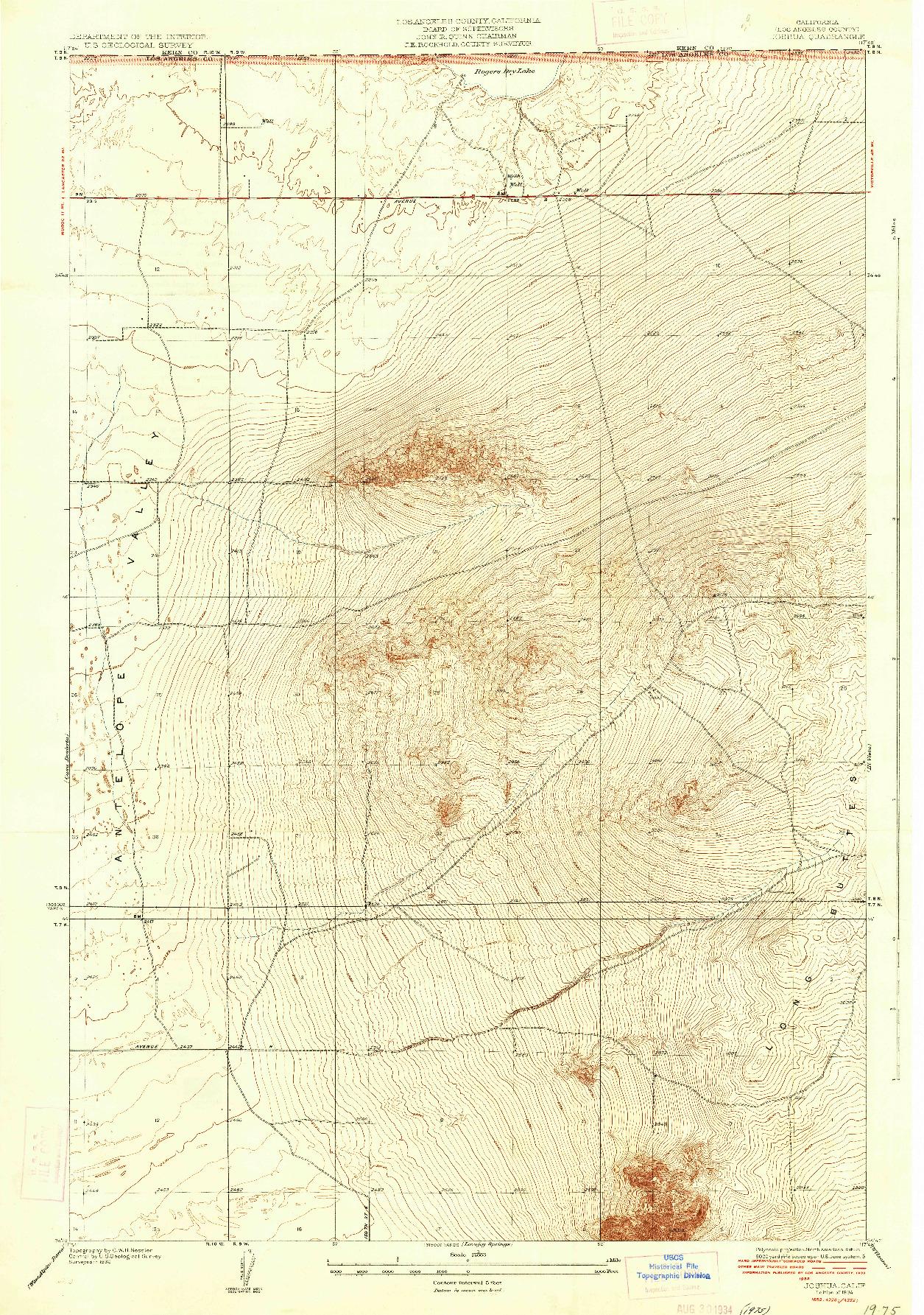 USGS 1:24000-SCALE QUADRANGLE FOR JOSHUA, CA 1934
