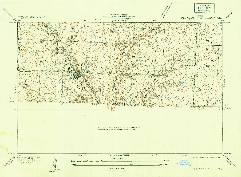USGS 1:24000-SCALE QUADRANGLE FOR PLEASANT HILL, MO 1934