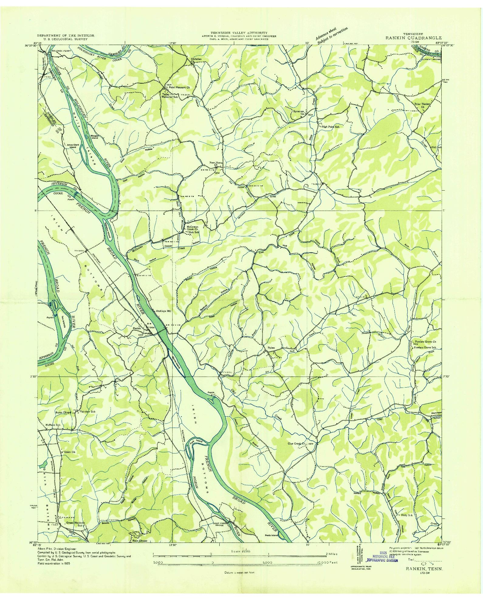 USGS 1:24000-SCALE QUADRANGLE FOR RANKIN, TN 1935