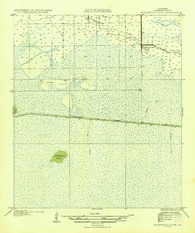USGS 1:31680-SCALE QUADRANGLE FOR BOUDREAUX LAKE, LA 1935