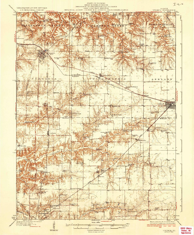 USGS 1:62500-SCALE QUADRANGLE FOR VIRGINIA, IL 1936