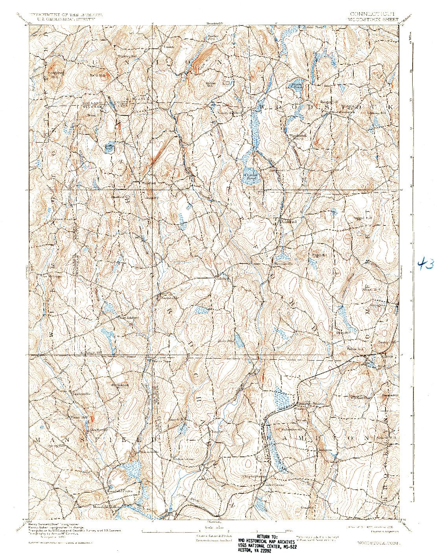 USGS 1:62500-SCALE QUADRANGLE FOR WOODSTOCK, CT 1892