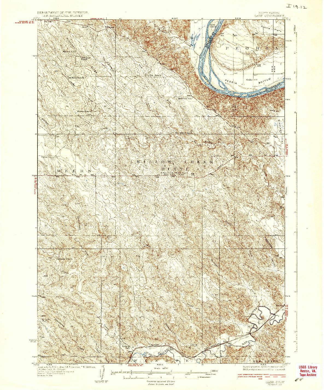 USGS 1:62500-SCALE QUADRANGLE FOR OAHE, SD 1937