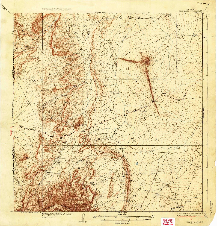 USGS 1:62500-SCALE QUADRANGLE FOR SHIP ROCK, NM 1937