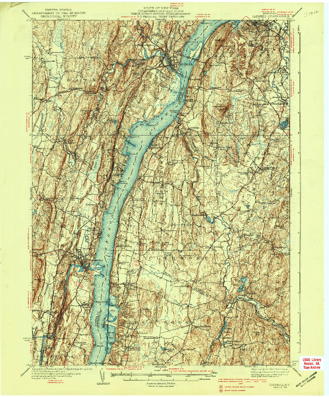 USGS 1:62500-SCALE QUADRANGLE FOR CATSKILL, NY 1938