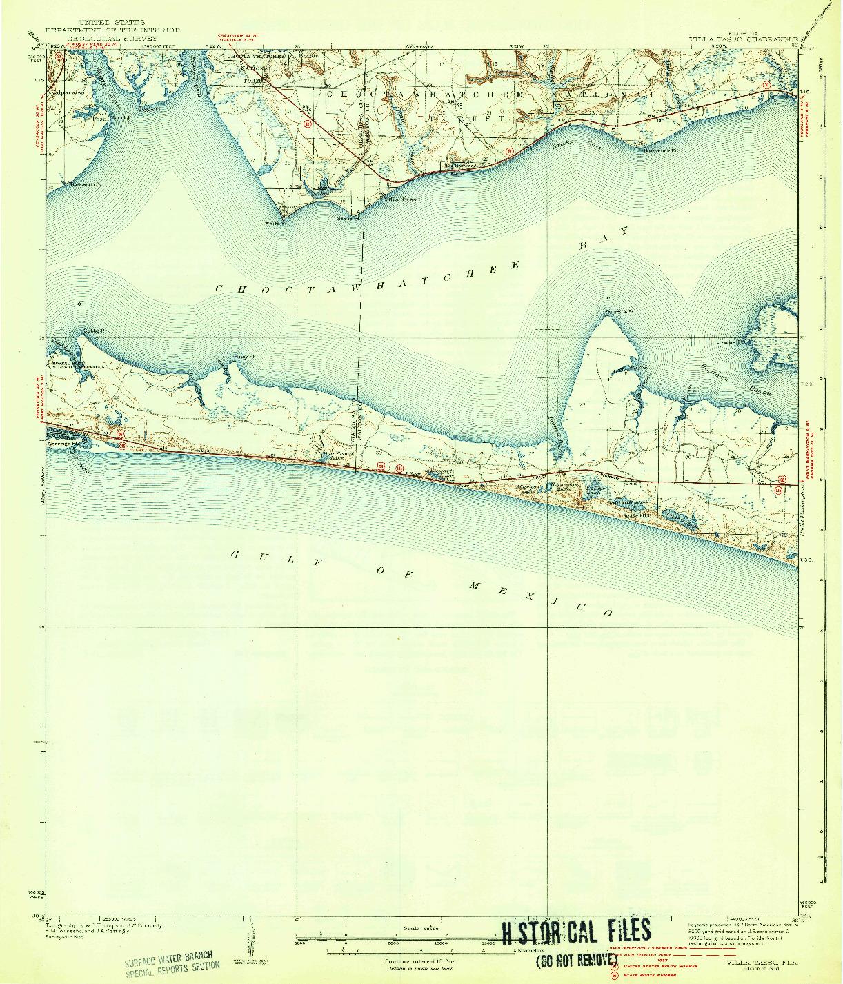 USGS 1:62500-SCALE QUADRANGLE FOR VILLA TASSO, FL 1938