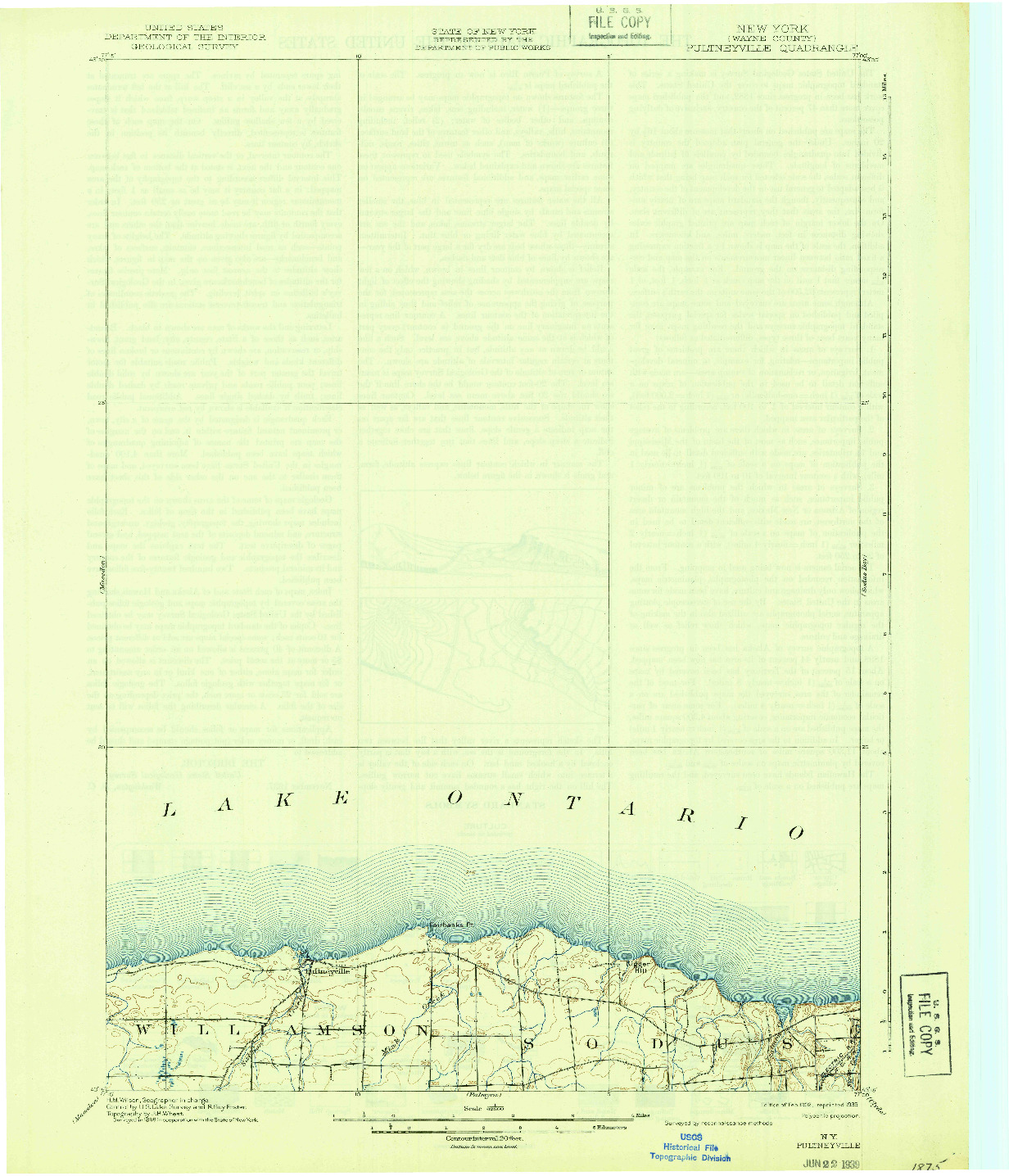 USGS 1:62500-SCALE QUADRANGLE FOR PULTNEYVILLE, NY 1902