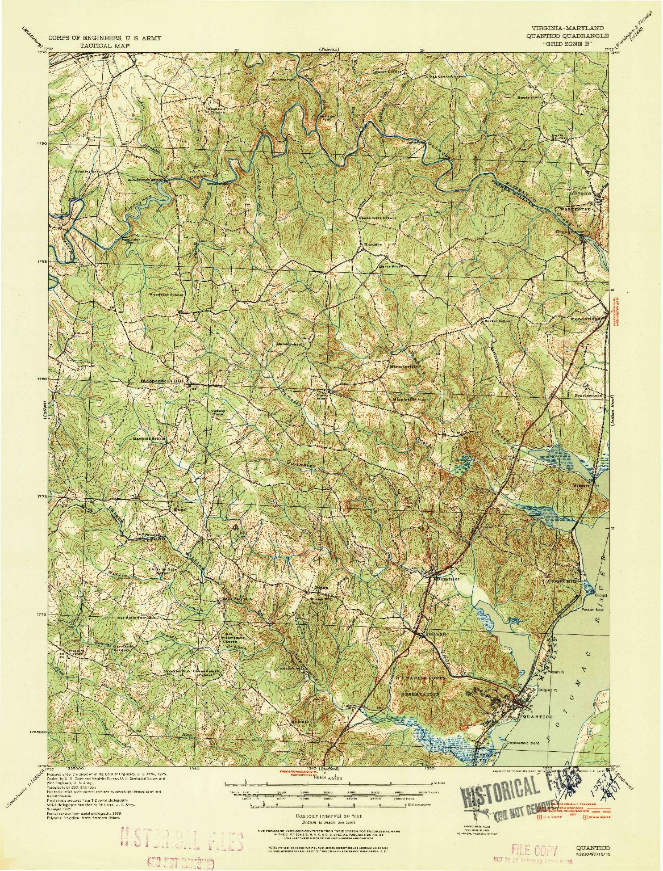 USGS 1:62500-SCALE QUADRANGLE FOR QUANTICO, VA 1940