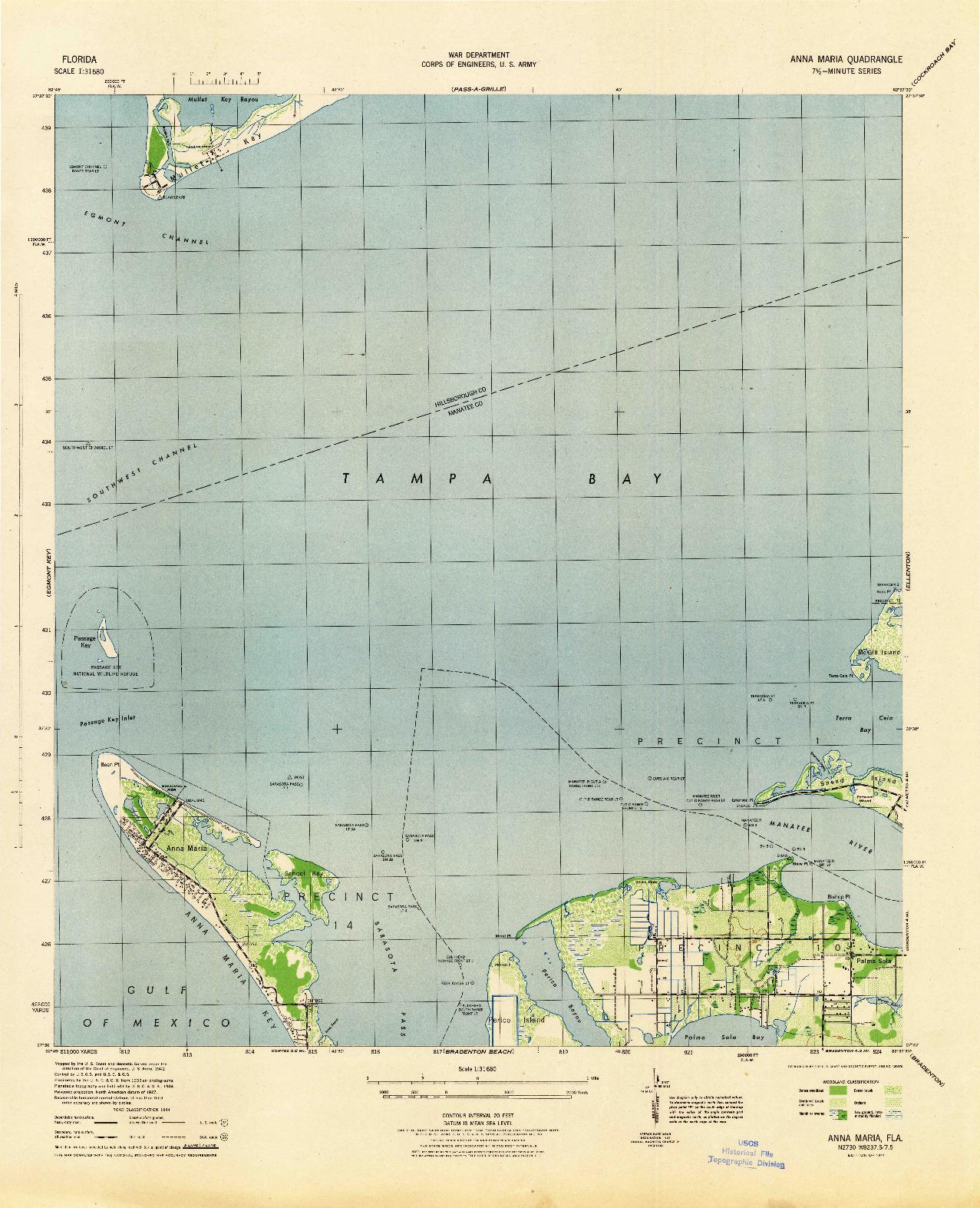 USGS 1:31680-SCALE QUADRANGLE FOR ANNA MARIA, FL 1944