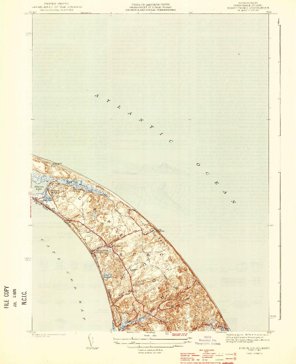 USGS 1:31680-SCALE QUADRANGLE FOR NORTH TRURO, MA 1944