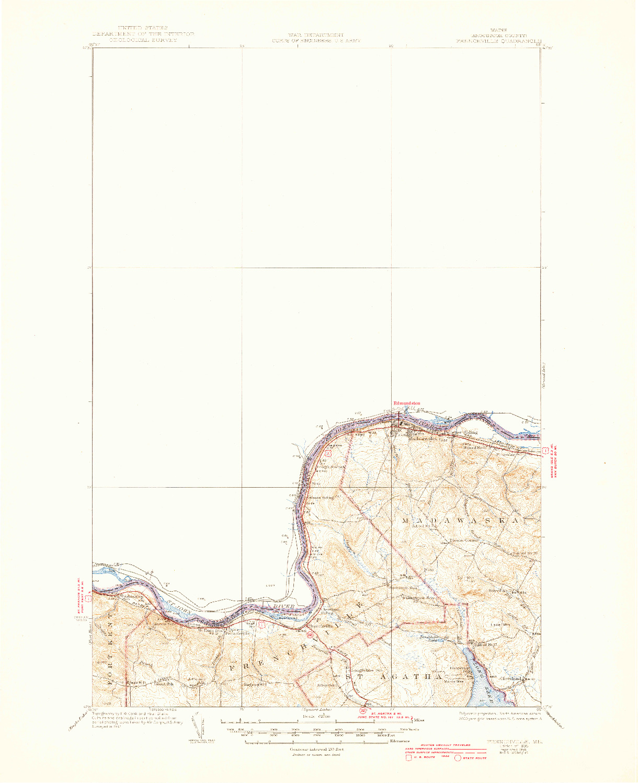USGS 1:62500-SCALE QUADRANGLE FOR FRENCHVILLE, ME 1935
