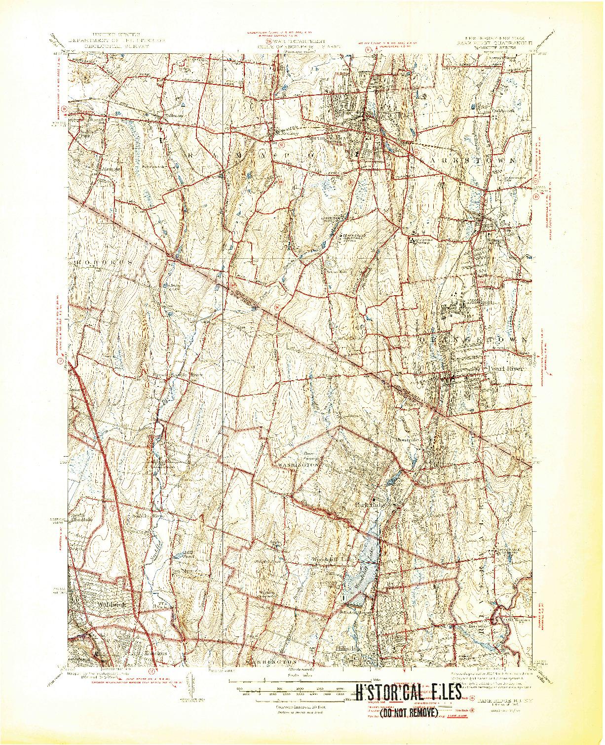 USGS 1:31680-SCALE QUADRANGLE FOR PARK RIDGE, NJ 1945