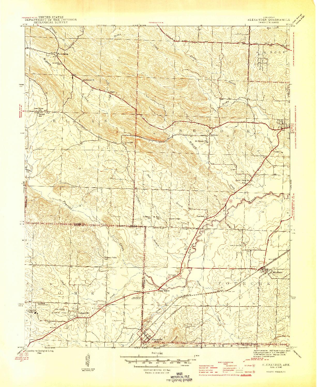 USGS 1:31680-SCALE QUADRANGLE FOR ALEXANDER, AR 1944