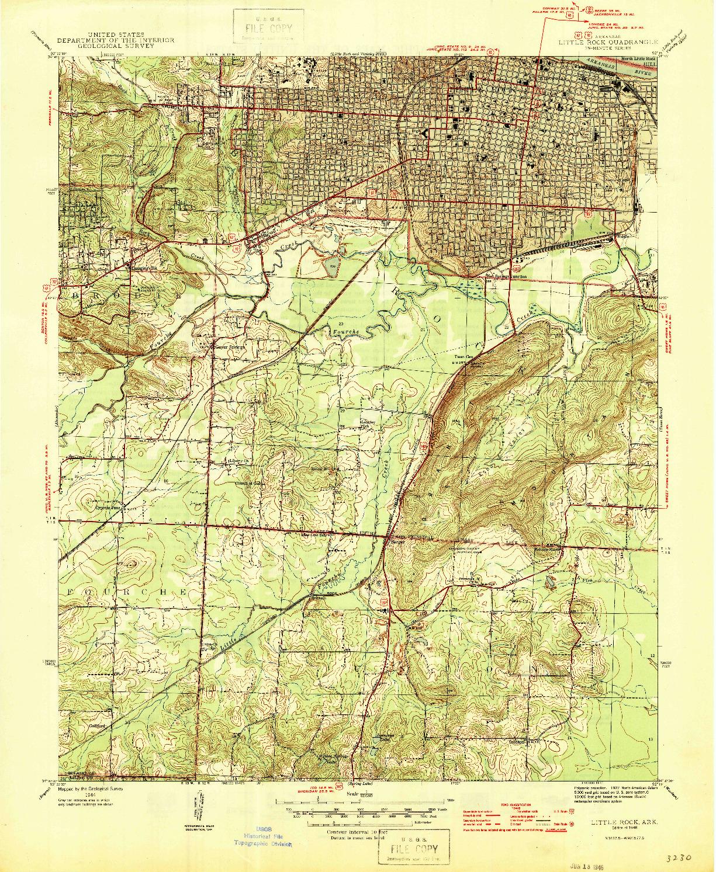 USGS 1:31680-SCALE QUADRANGLE FOR LITTLE ROCK, AR 1944