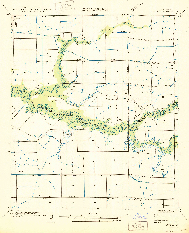 USGS 1:31680-SCALE QUADRANGLE FOR MORSE, LA 1946
