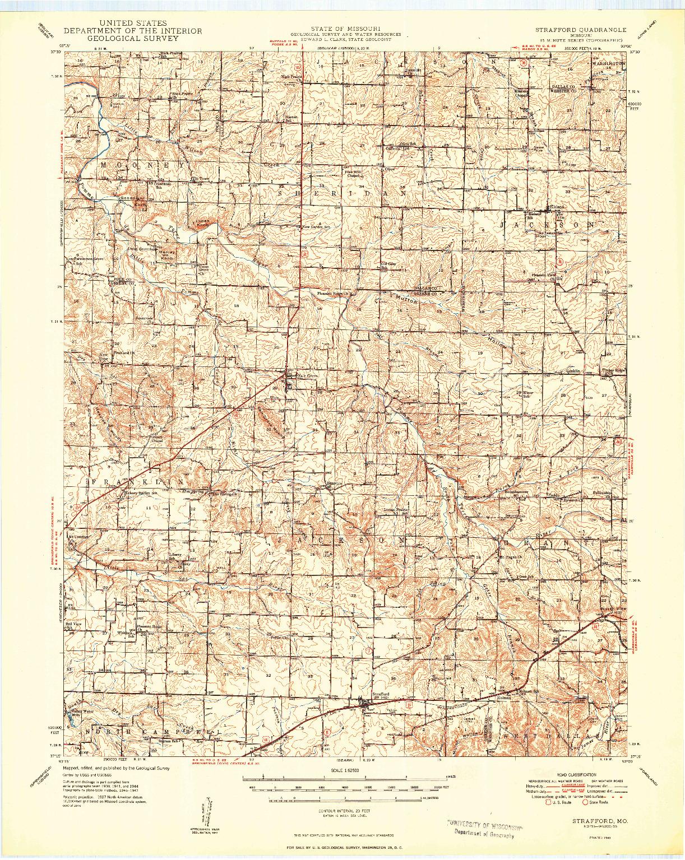 USGS 1:62500-SCALE QUADRANGLE FOR STRAFFORD, MO 1948