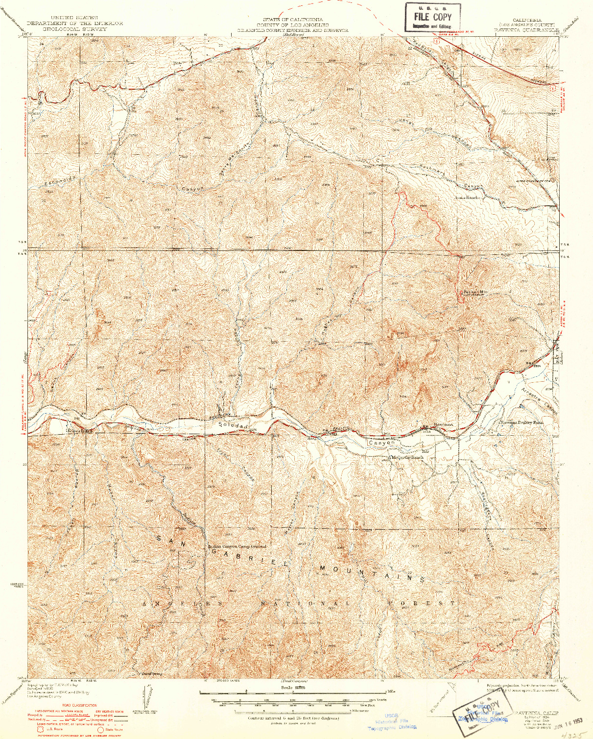 USGS 1:24000-SCALE QUADRANGLE FOR RAVENNA, CA 1934
