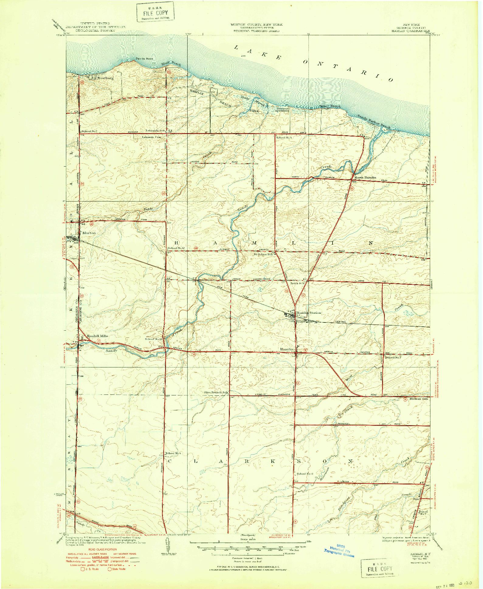 USGS 1:24000-SCALE QUADRANGLE FOR HAMLIN, NY 1935