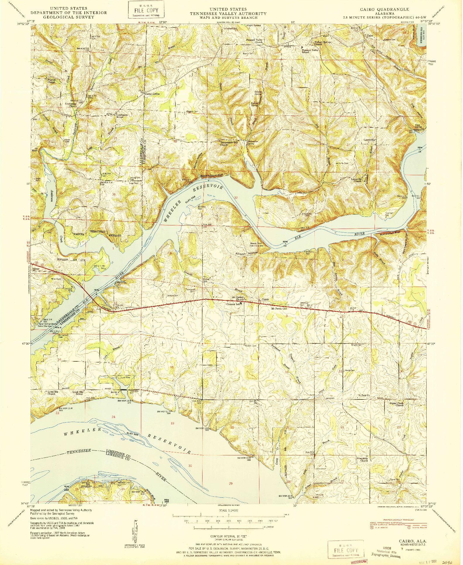 USGS 1:24000-SCALE QUADRANGLE FOR CAIRO, AL 1950