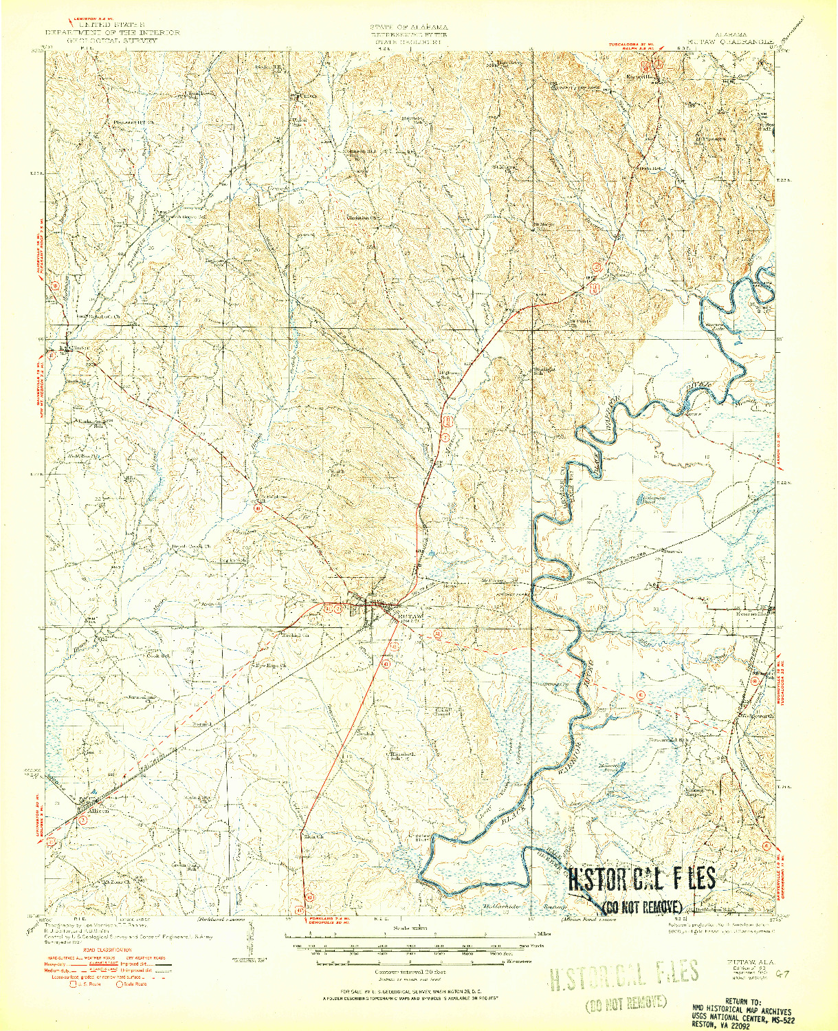 USGS 1:62500-SCALE QUADRANGLE FOR EUTAW, AL 1931