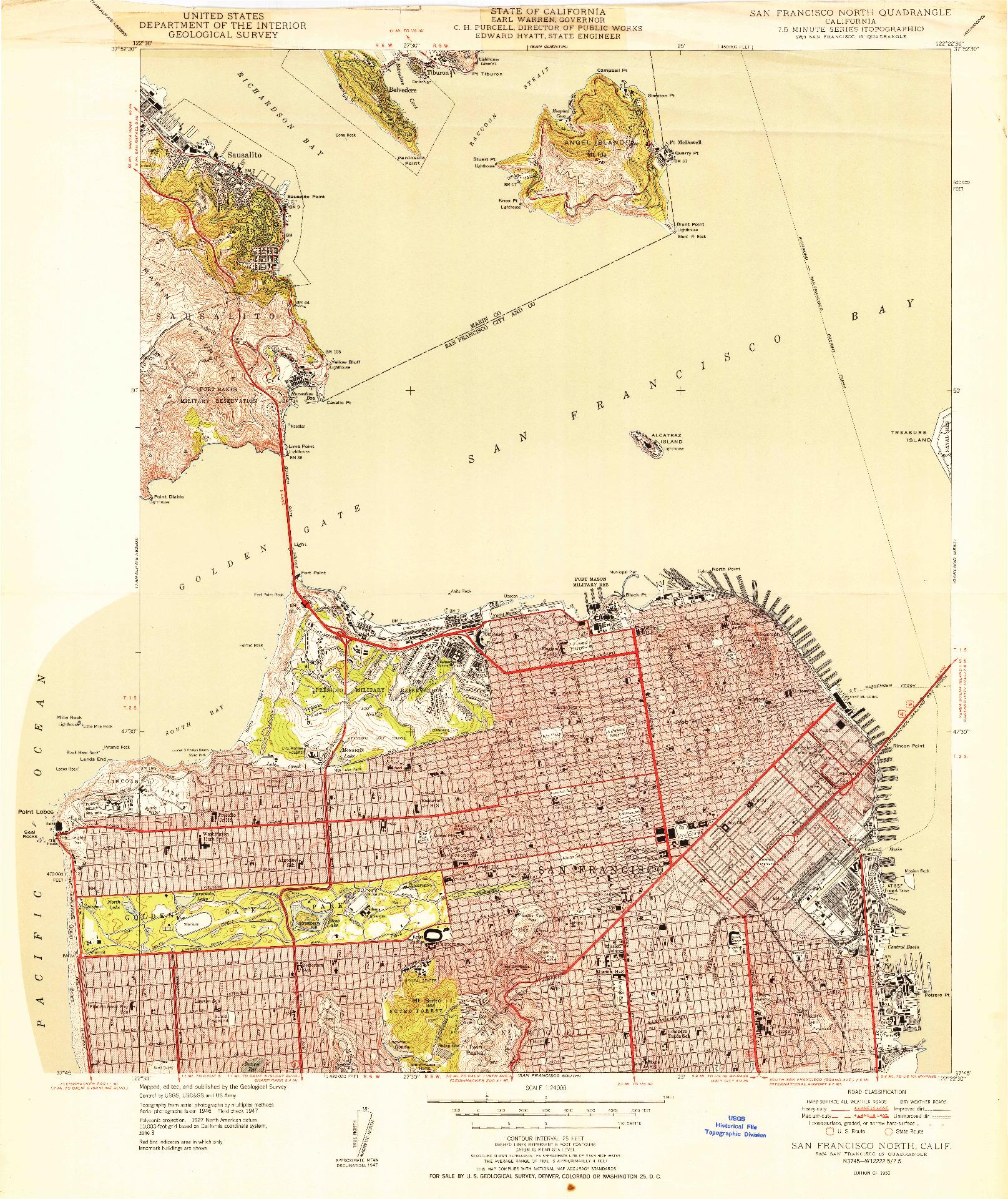 USGS 1:24000-SCALE QUADRANGLE FOR SAN FRANCISCO NORTH, CA 1950