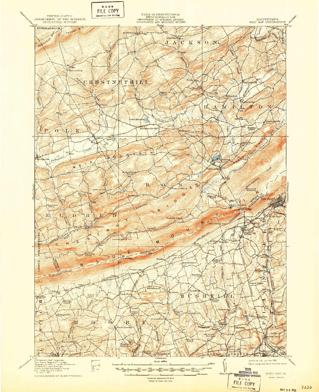 USGS 1:62500-SCALE QUADRANGLE FOR WIND GAP, PA 1916