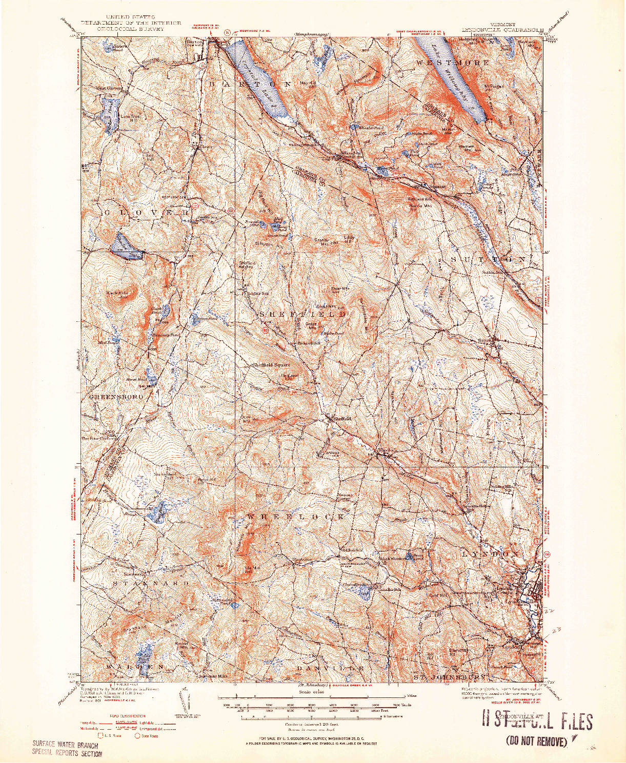 USGS 1:62500-SCALE QUADRANGLE FOR LYNDONVILLE, VT 1951