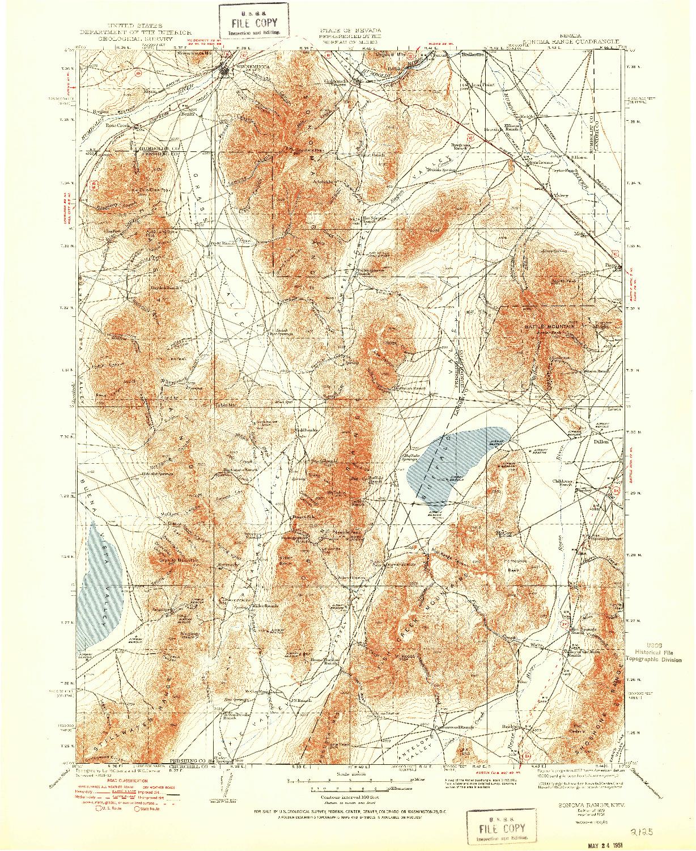USGS 1:250000-SCALE QUADRANGLE FOR SONOMA RANGE, NV 1939