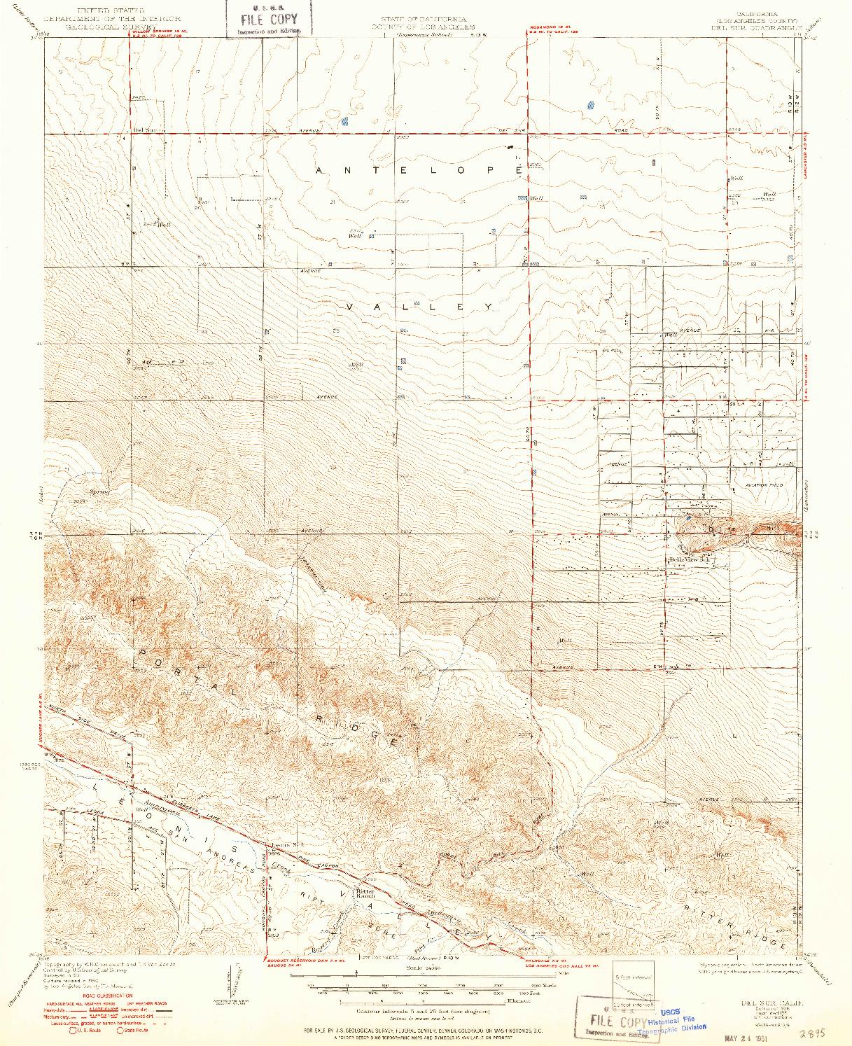 USGS 1:24000-SCALE QUADRANGLE FOR DEL SUR, CA 1936