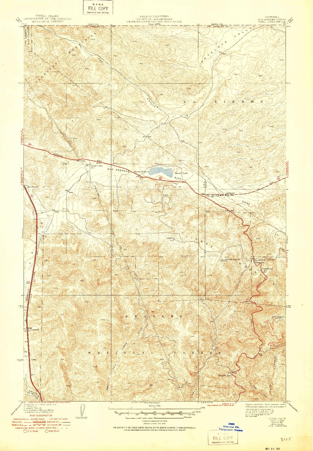 USGS 1:24000-SCALE QUADRANGLE FOR QUAIL, CA 1938
