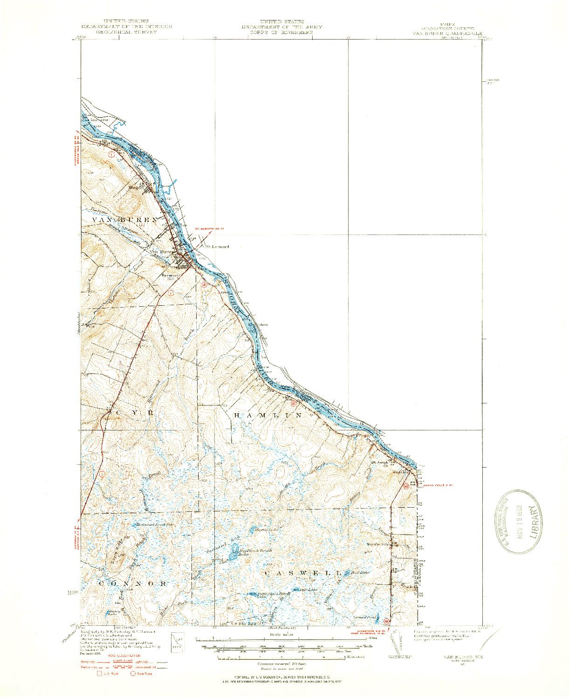 USGS 1:62500-SCALE QUADRANGLE FOR VAN BUREN, ME 1951