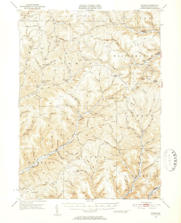 USGS 1:62500-SCALE QUADRANGLE FOR CONRAD, PA 1947