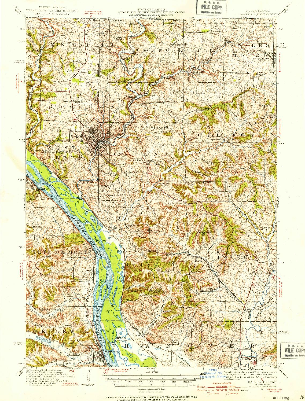 USGS 1:62500-SCALE QUADRANGLE FOR GALENA, IL 1911