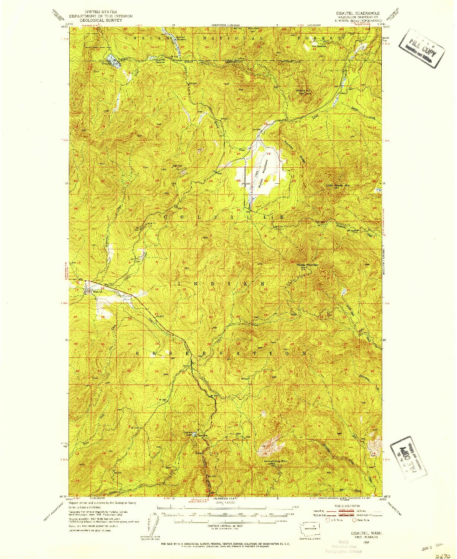 USGS 1:62500-SCALE QUADRANGLE FOR DISAUTEL, WA 1952