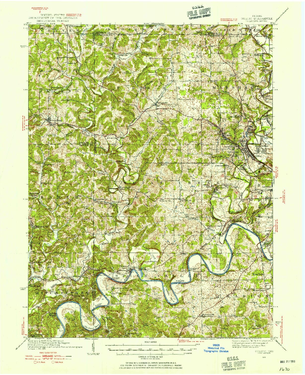 USGS 1:62500-SCALE QUADRANGLE FOR OOLITIC, IN 1935